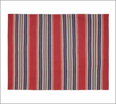 Oliver Stripe Indoor Outdoor Rug Pottery Barn Balcony Garden