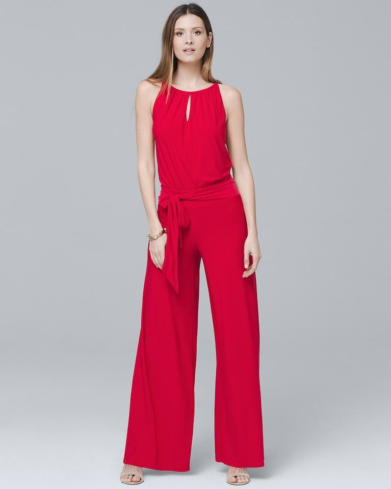 12416aa1668e Women s Wide-Leg Keyhole Jumpsuit by White House Black Market ...