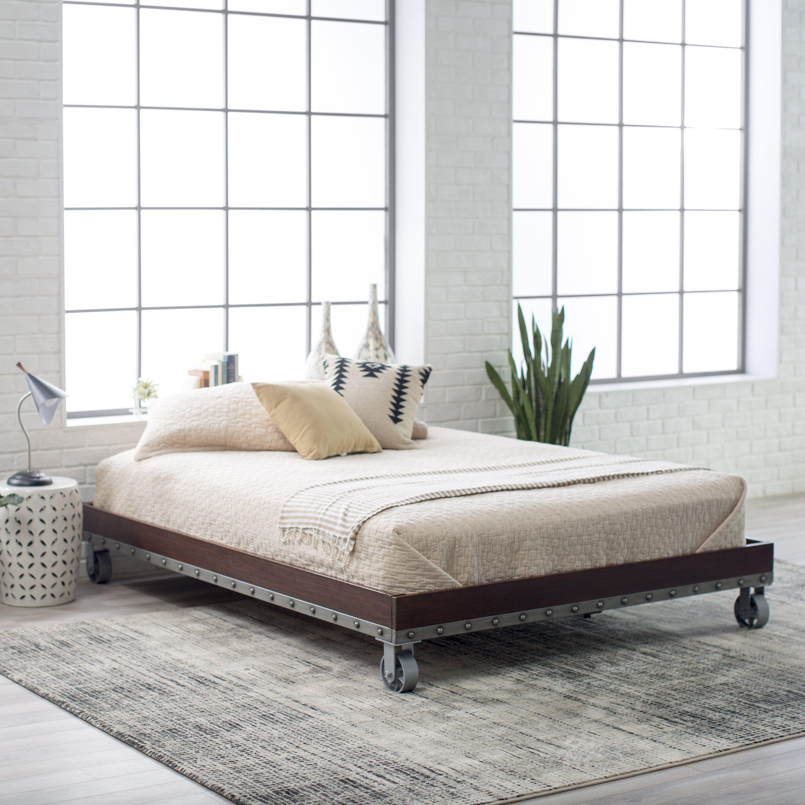 Belham Living Merced Platform Cart Bed Enhance Your Bedroom With The Rustic Beauty Of