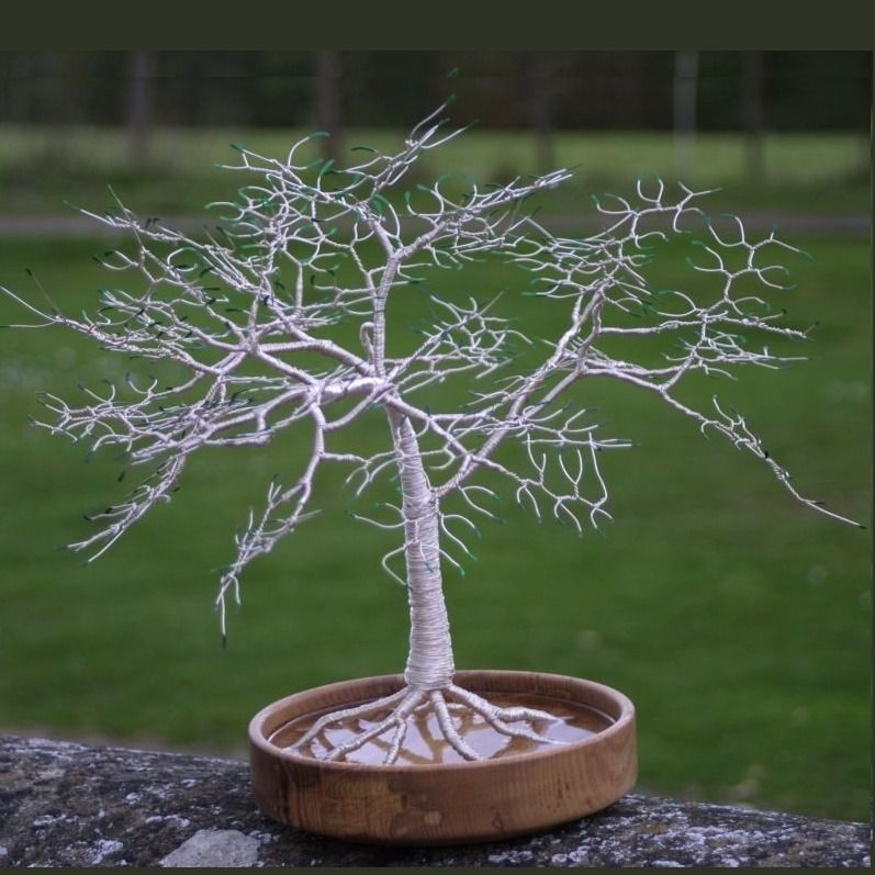 Silver Canopy Wire Tree Sculpture. £80.00. This tree sculpture has ...
