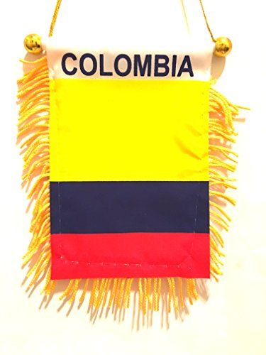 COLOMBIA flag automobile rearview mirror or window flag car Home mini banner