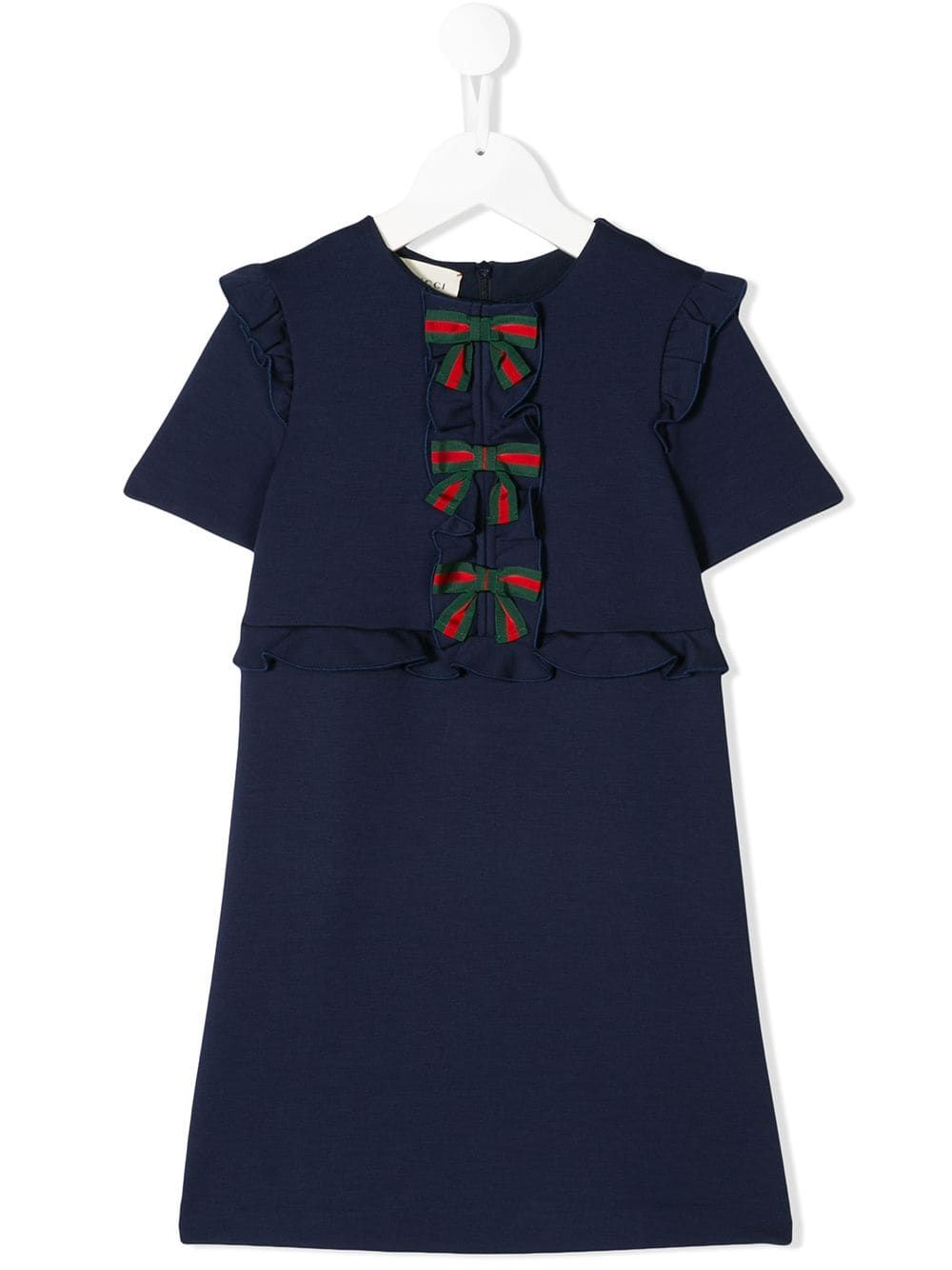 eb97a0d5 Gucci Kids Web bow front dress - Blue in 2019   Products   Gucci ...