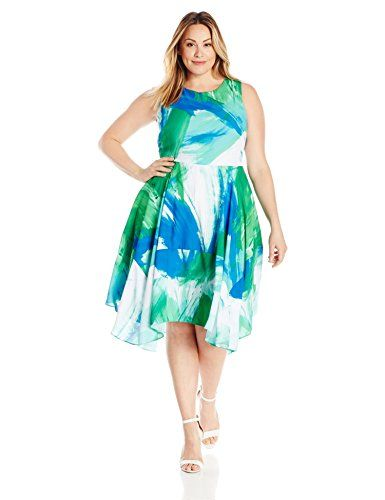 fb234548424 Julia Jordan Women s Plus Size Floral Fit and Flare Midi Dress