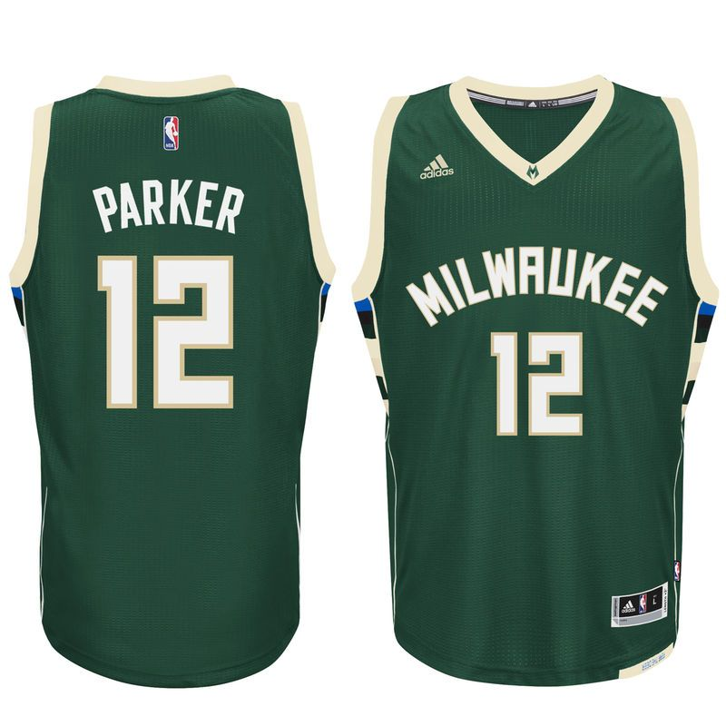 f2c4ae5ce70a Jabari Parker Milwaukee Bucks adidas Swingman climacool Jersey - Hunter  Green