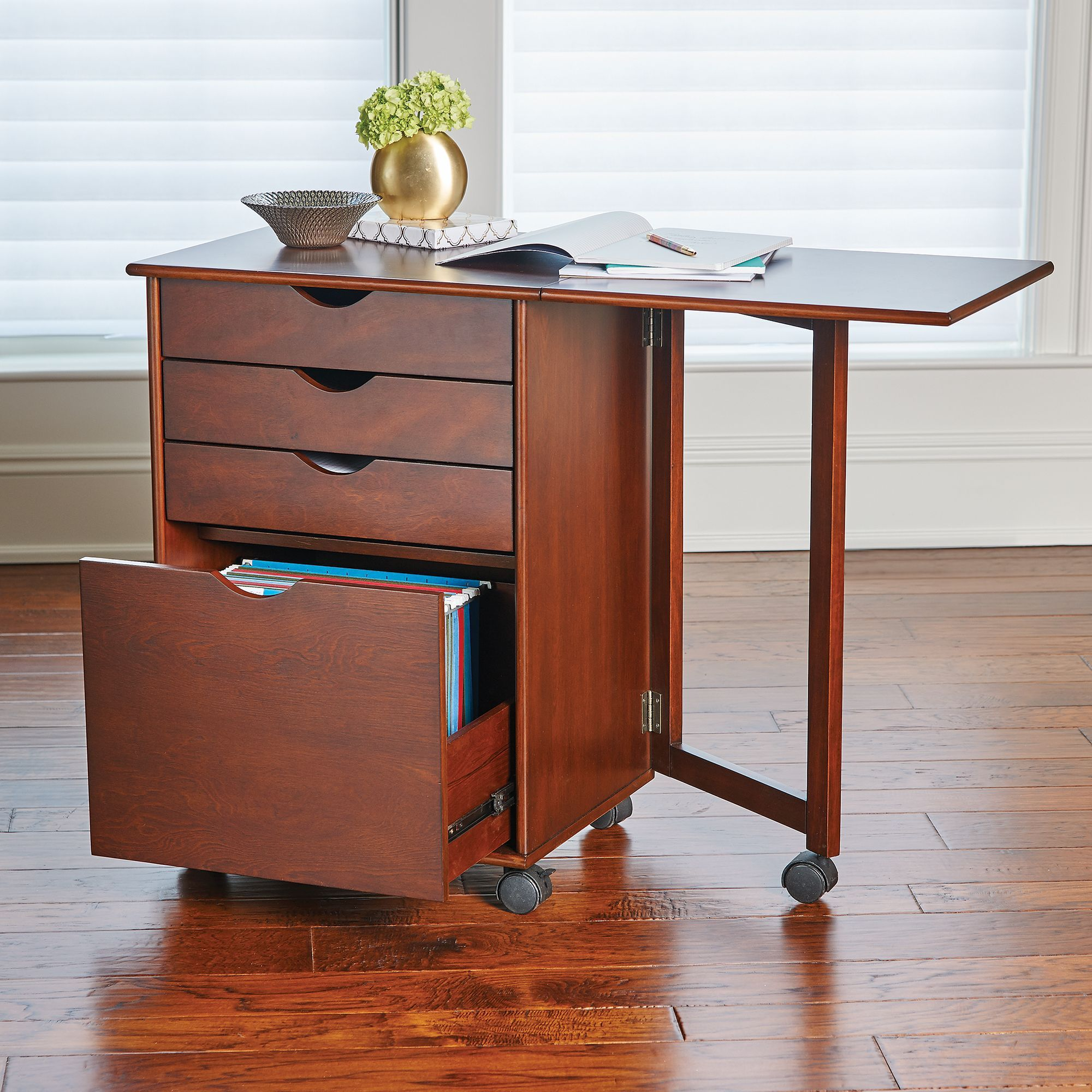 This Member Of Our Wellesly Collection Functions As A Spacious Storage Cart And A Desk With You Use Its Fli Home Office Furniture