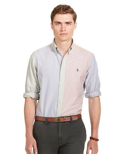 7aeb7f72866365 Patterned Cotton Oxford Shirt - Polo Ralph Lauren Standard Fit - RalphLauren .com