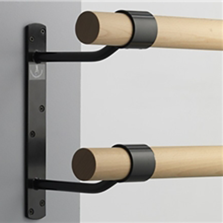 Wall Mounted Ballet Barres Single And Double Dance Studio Design Yoga Studio Design Ballet Barre