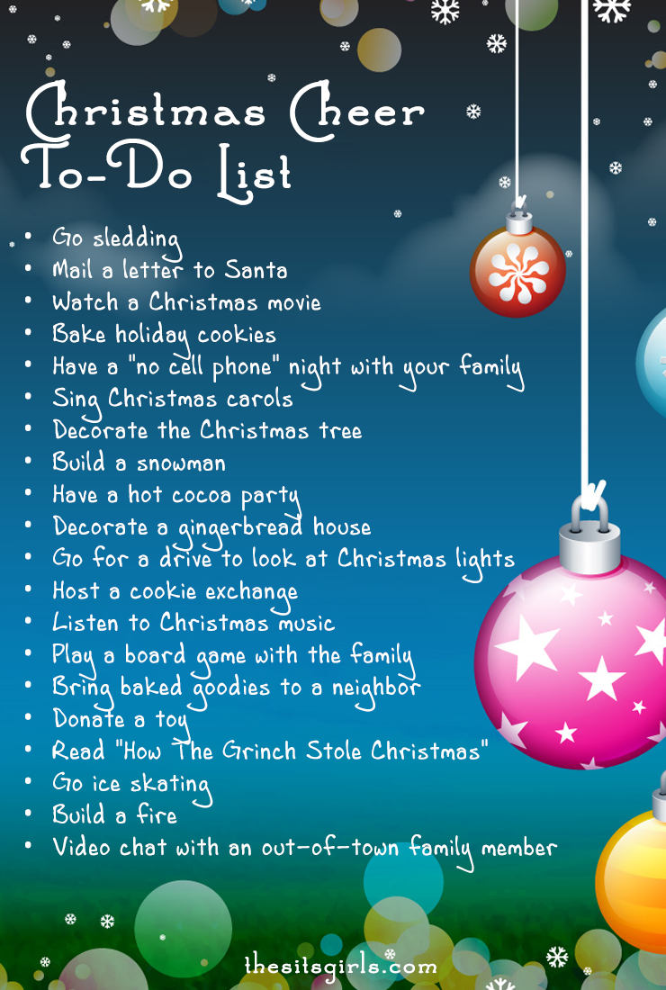 The perfect todo list for experiencing Christmas cheer