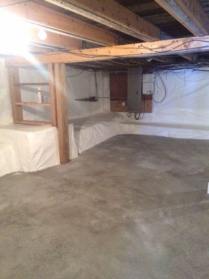 New Damp Wall In Basement