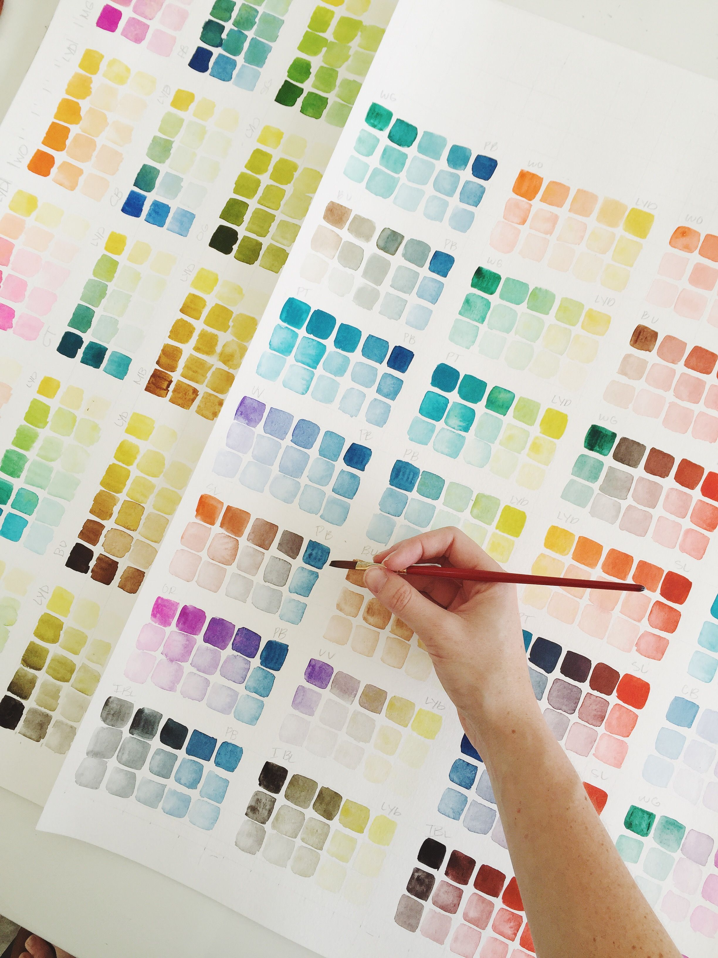 Diy Color Study Color Studies Color Mixing Chart Color Theory