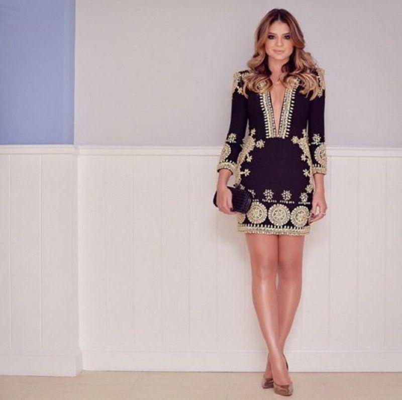 Dresses long sleeve mini