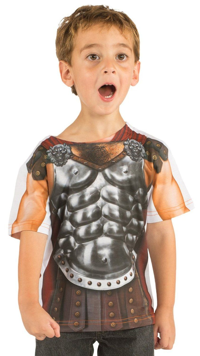 Amazon.com: Toddler: Gladiator Costume Tee (Front/Back) Baby T ...