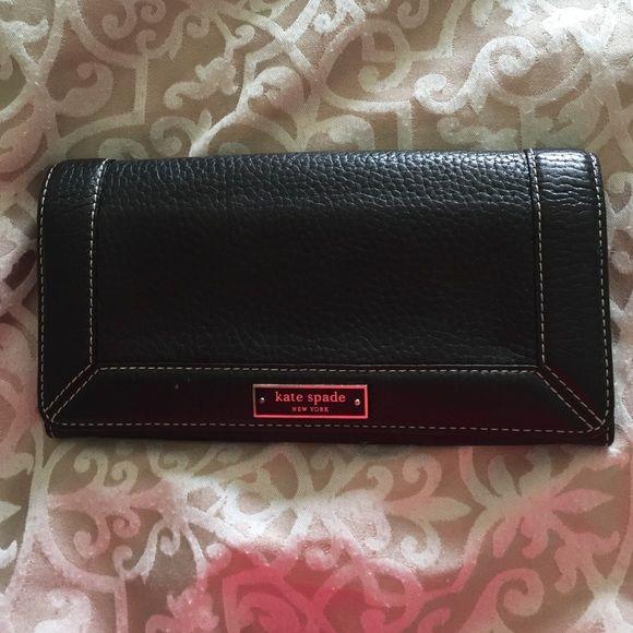 Kate Spade Wallet Black Kate Spade wallet in great shape. Was barely used. kate spade Bags Wallets