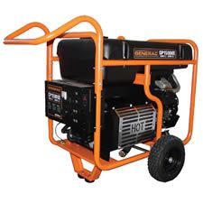 Contractors love it because it can power an entire job site. It includes nearly every type of plug imaginable, ranging from an ordinary household outlet to a powerful 50-amp straight-blade plug.    Good luck trying to find a generator this big in sto..