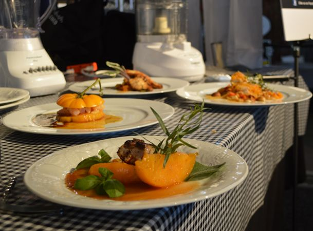 Chef Navarretta's dishes before presentation to the judges.