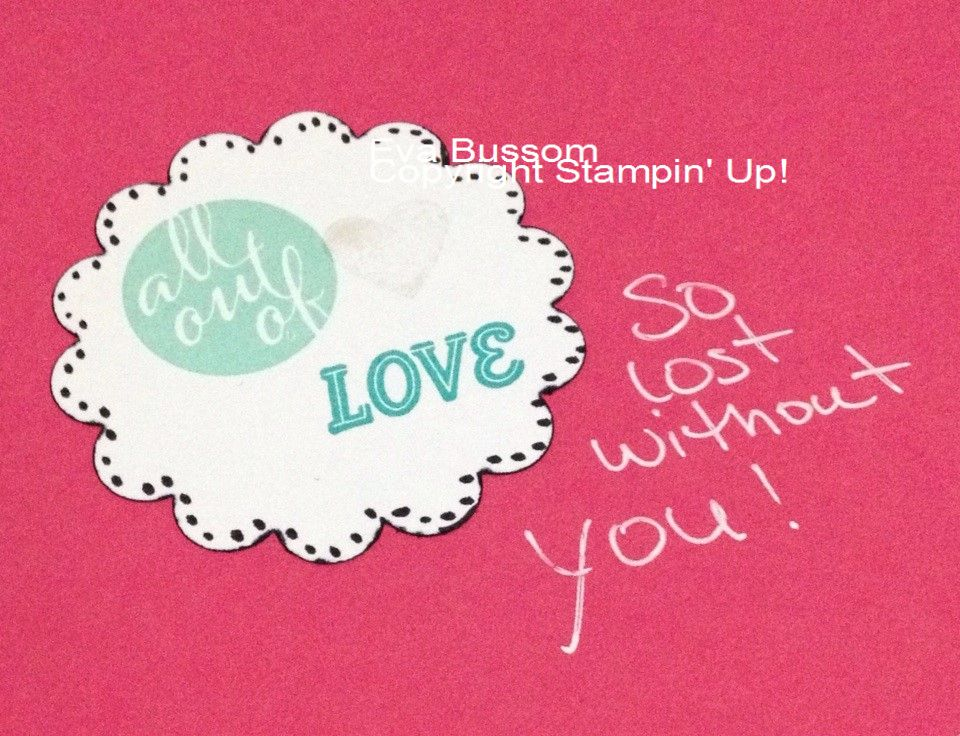 All Out Of Love - My Paper Pumpkin Stampin' Up!