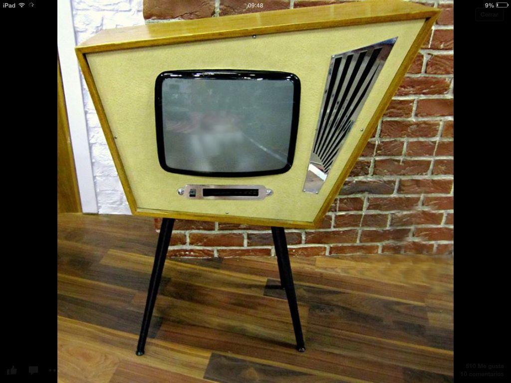 Original Tv De Los A Os 50s Decoracion Muebles Orden Y  # Muebles Raros Originales