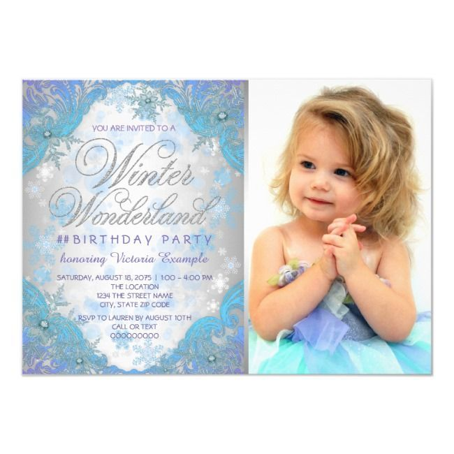 Frozen Winter Wonderland Birthday Party Invitation | Zazzle.com #frozenbirthdayparty Frozen Winter Wonderland Birthday Party Invitation #Ad , #affiliate, #Birthday#Party#Invitation#Wonderland