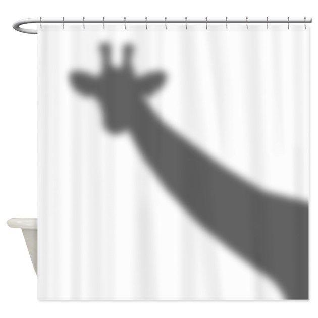 Giraffe Shadow Shower Curtain