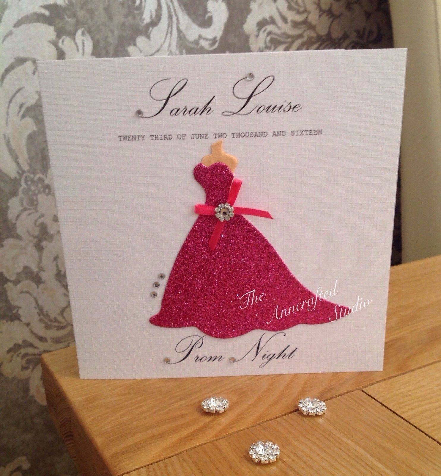 Prom Night Card for Daughter/Granddaughter etc Boxed Personalised ...