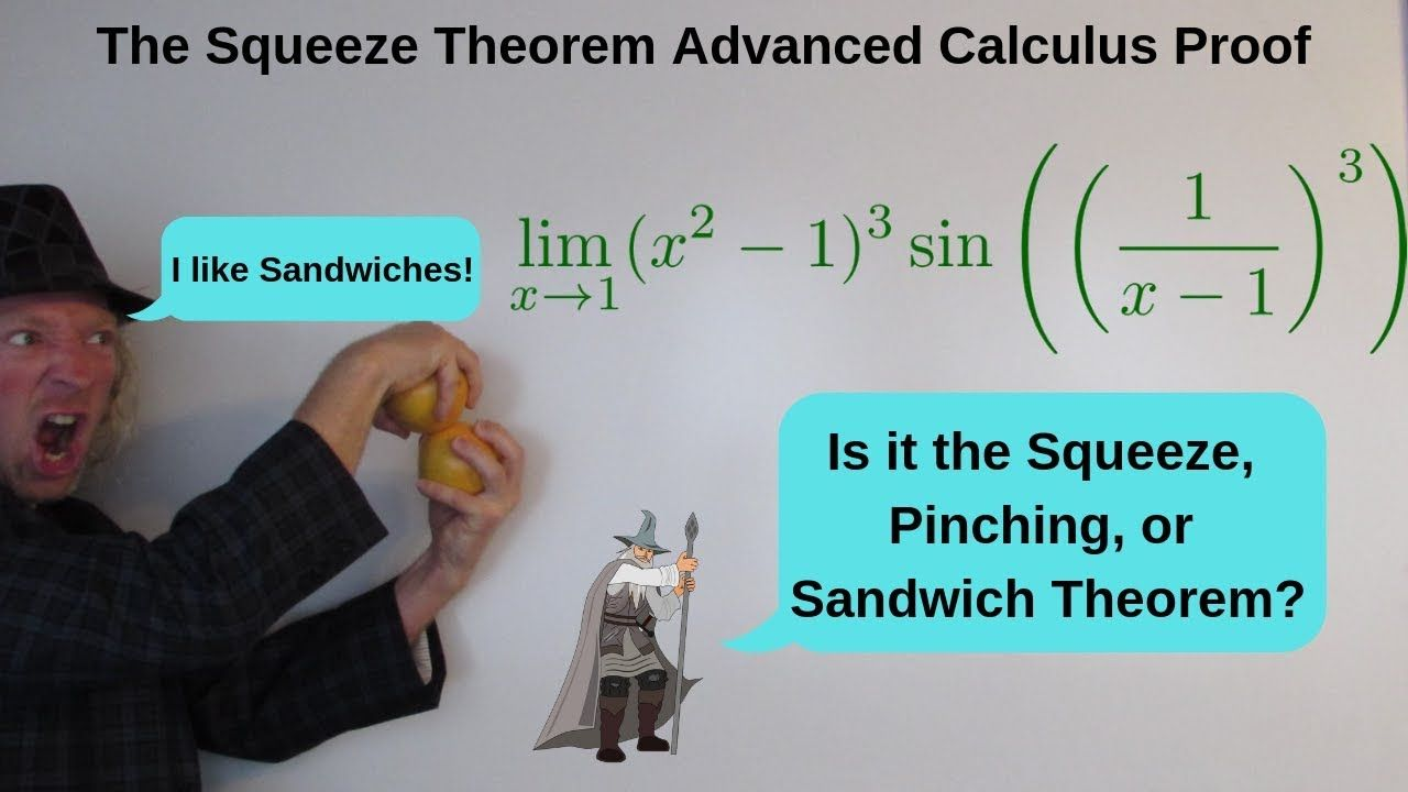 Advanced Calculus Squeeze Theorem Proof Limit Of X 2 1 3 Sin 1 X 1 3 Calculus Theorems Math Videos
