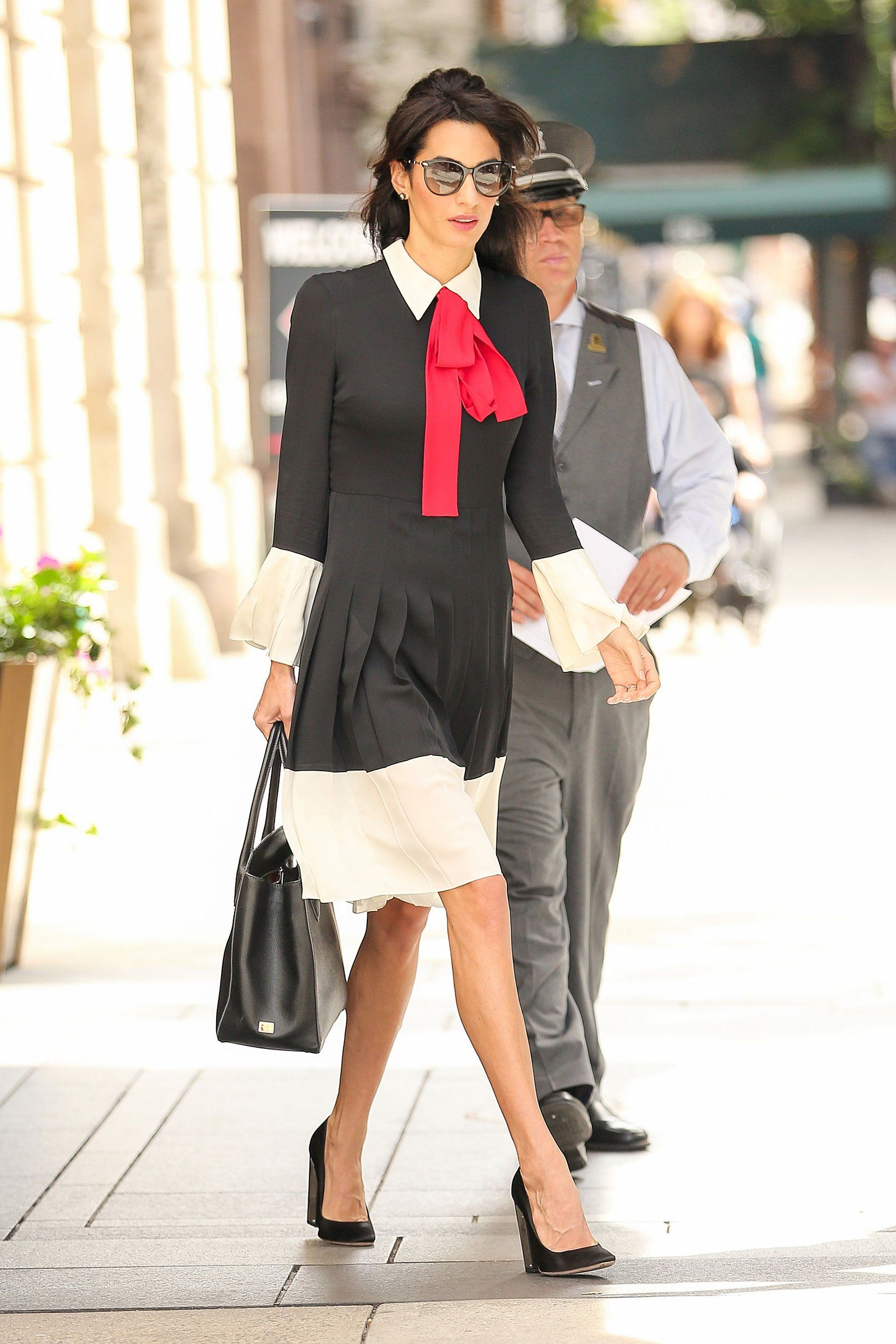 Amal Clooney in the Gucci pussy-bow dress.