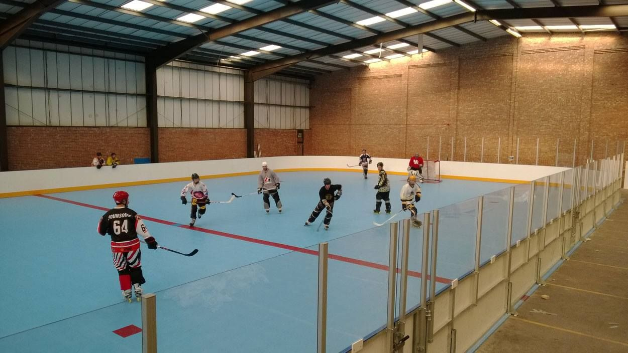 Ice players playing Inline Hockey at Solent Arena! It was