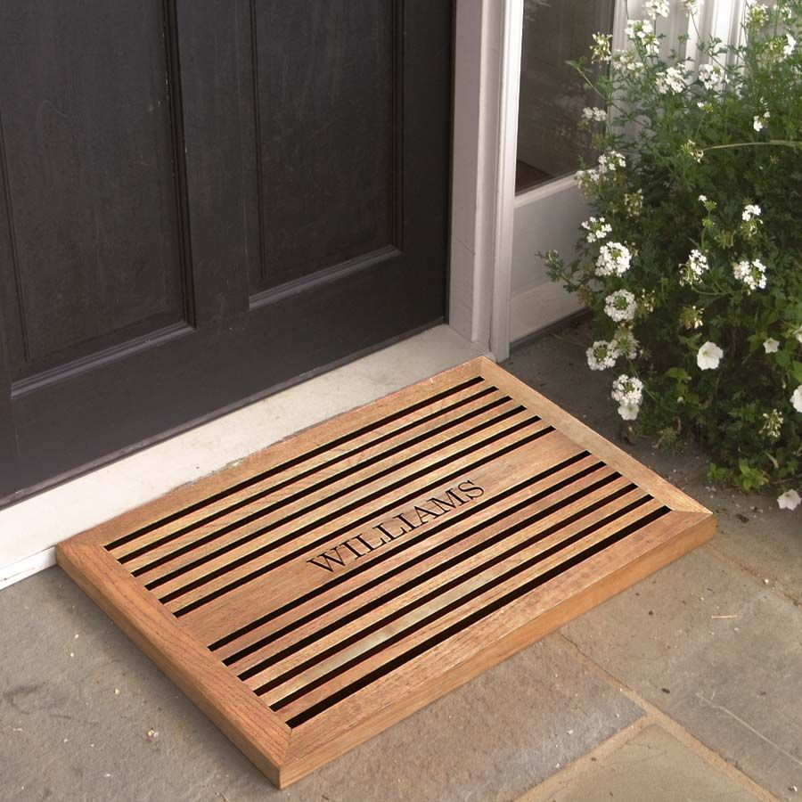 Office entry door mats - Wood Door Mat