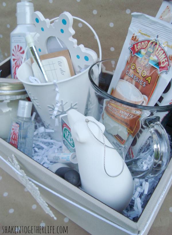 White christmas themed gift ideas