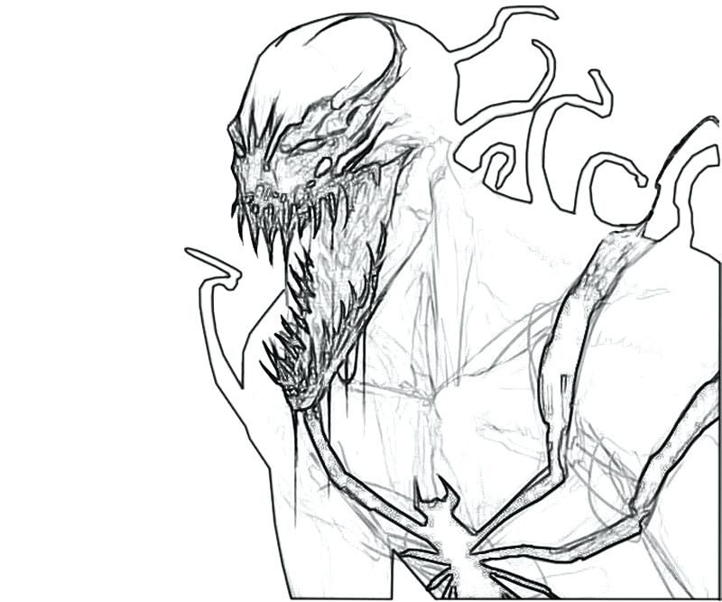 Venom Coloring Pages Venom Coloring Pages Venom And Carnage Combined Another Anti Images Coloring Pages Carnage Color