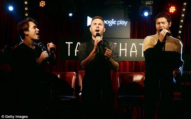 Giving it some: They later took to the stage at an Exclusive Google Play gig at Dover Street Arts Club to give an intimate performance of some of their latest songs