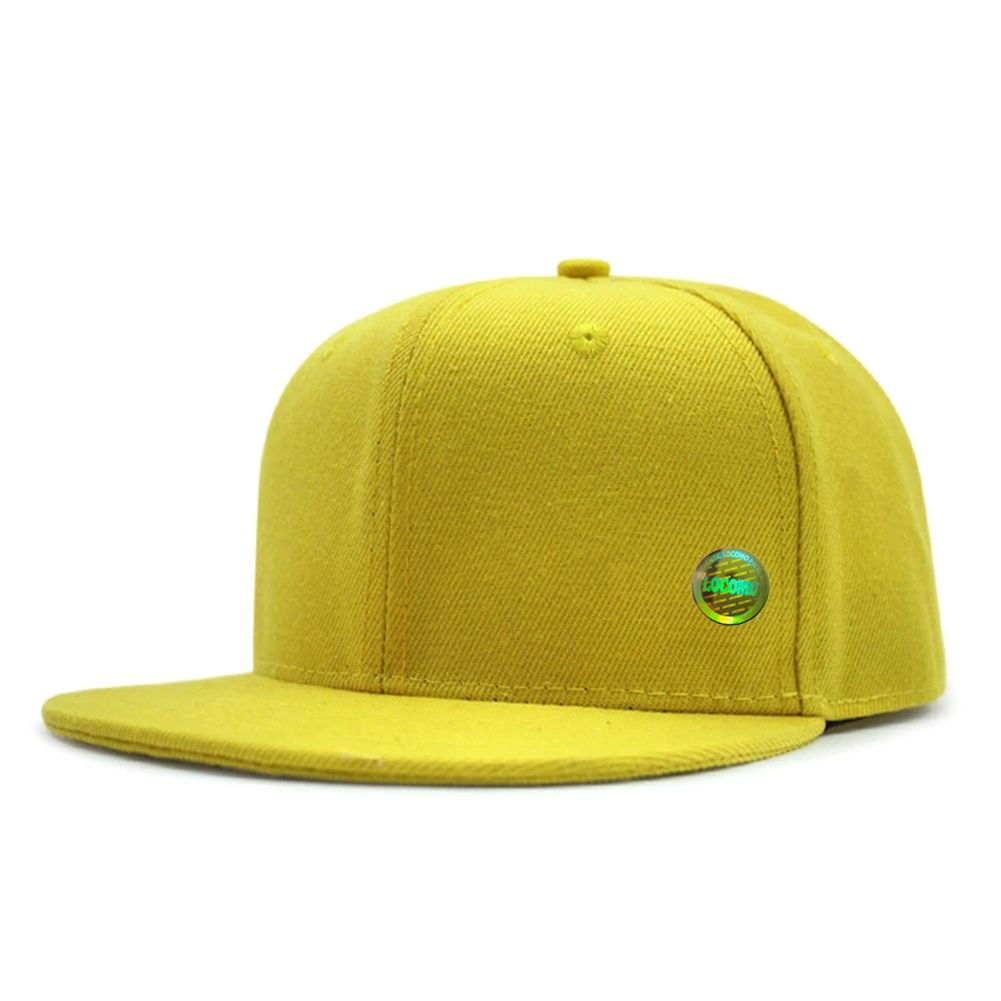 dcb110ff081 Boy Girl Kid Plain Color Simple Design Snapback Cap Yellow ...