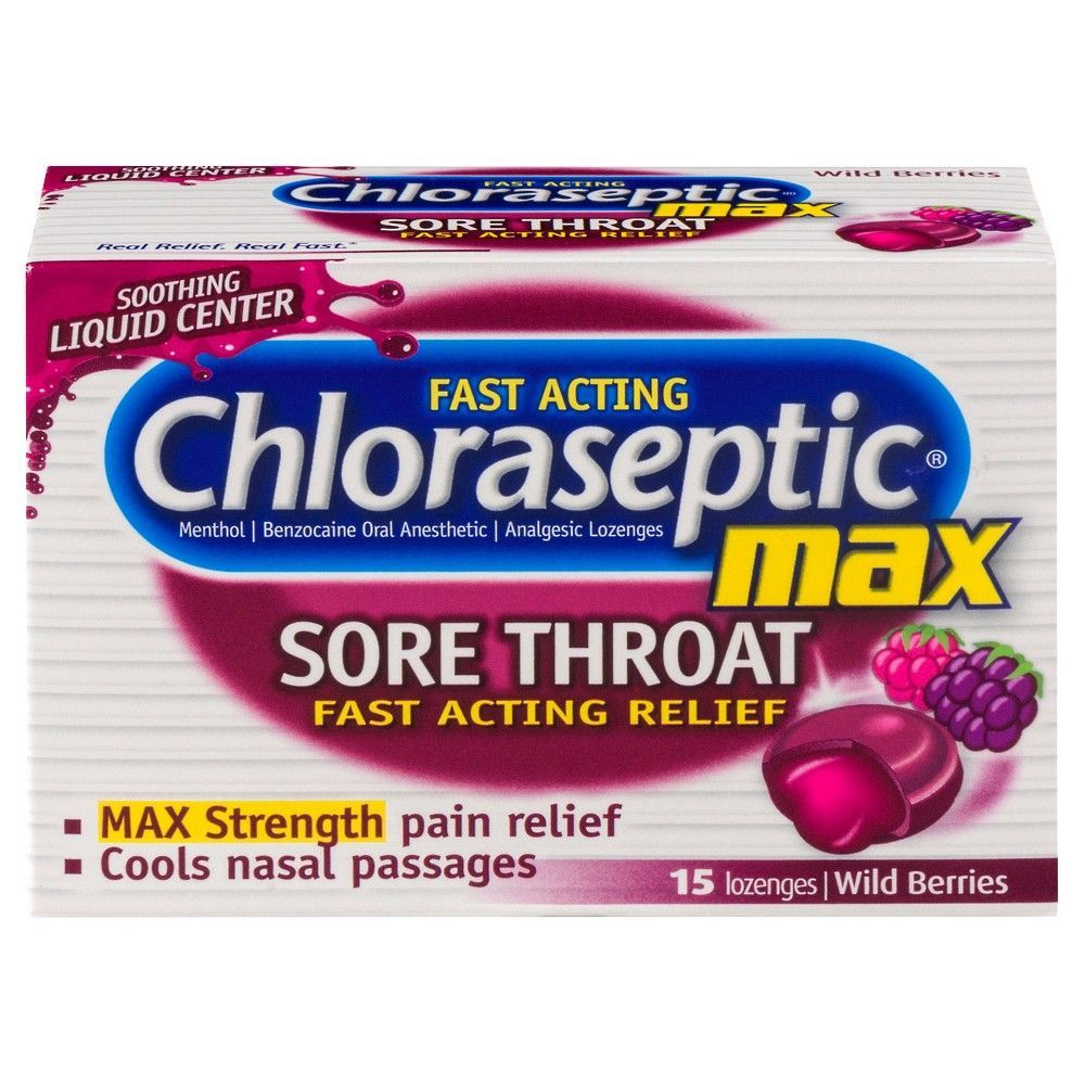 Chloraseptic Max Strength Sore Throat Lozenges - Wild