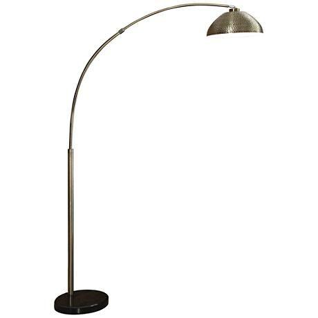 Murrillo Hammered Antique Bronze Arc Floor Lamp