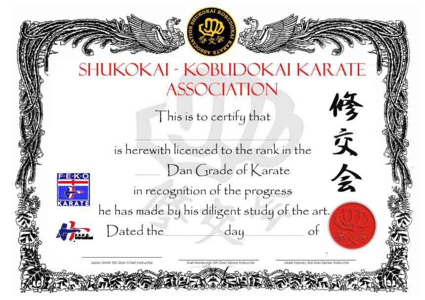 26 Awesome Karate Certificate Template Projects To Try Pinterest