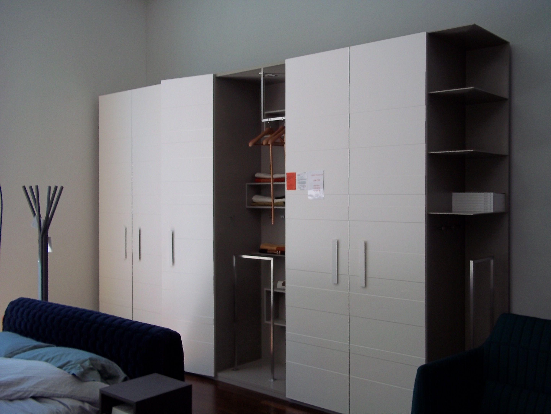 Hide & Seek Wardrobe White Ribbed Doors And Argile Interior