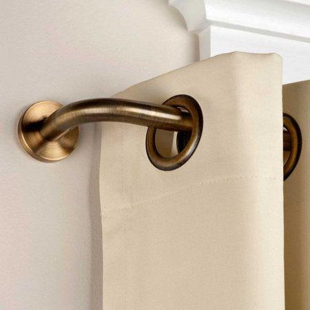 Privacy Wraparound Curtain Rod Design Bay Window
