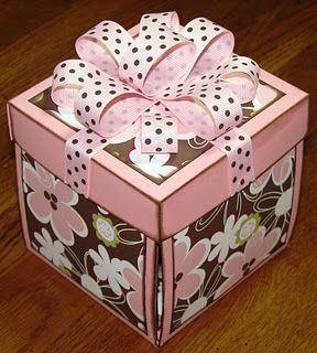 The Avid Scrapper Scrapbook Explosion Gift Boxes Exploding Box Card Explosion Box Pop Up Box Cards