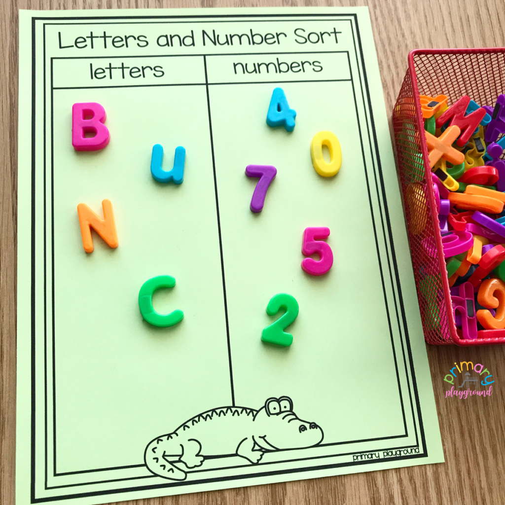 Free Printable Letters And Numbers Sort