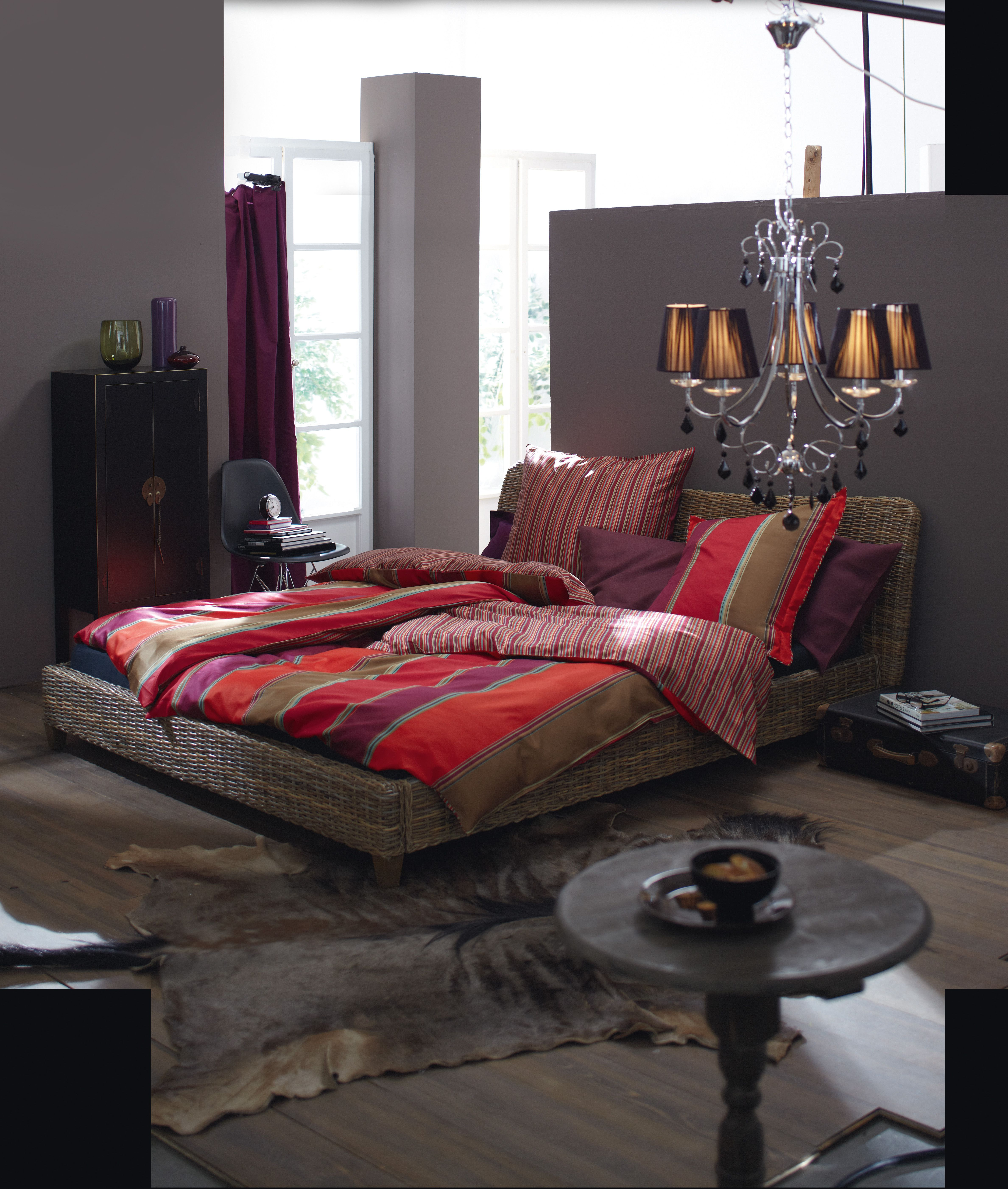 Rattanbett rattan bed impressionen schlafzimmer bedroom pinterest - Rattan schlafzimmer ...