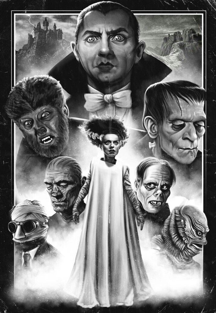 Universal Monsters Classic Monsters Horror Movie Icons Classic Horror Movies