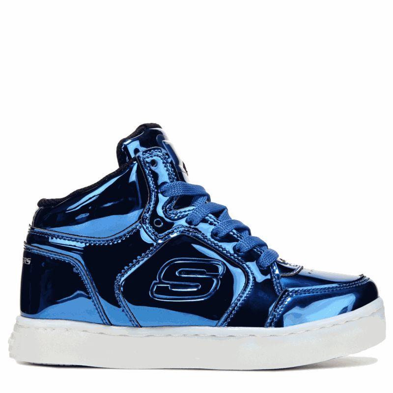 0019bc5f5fe9 Skechers Kids  Energy Lights High Top Sneaker Pre Grade School Shoes (Royal)