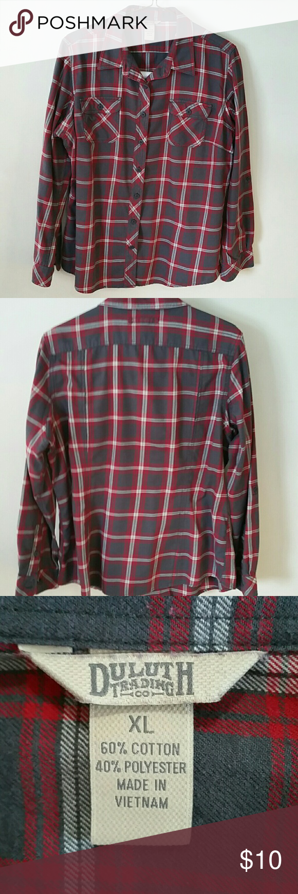 Grey flannel jacket  Duluth trading co flannel shirt  Duluth trading Flannel shirts