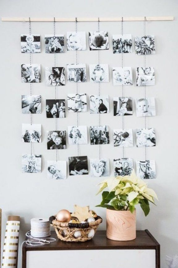 DIY Family Photo Wall Hanging   Homemade ornaments  Christmas DIY ideas  homemade gifts and more from  cydconverse #decorations #homedecor