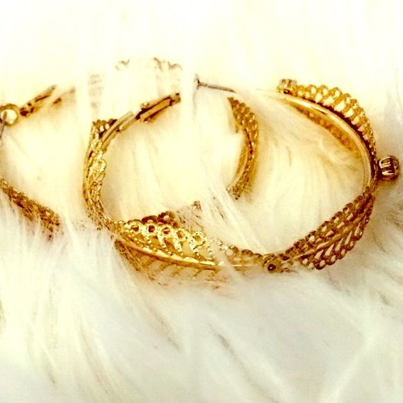 Gold Hoop Arden B Earrings In Perfect Condition Medium Sized From Only Wore Them A Of Times And Are Almost