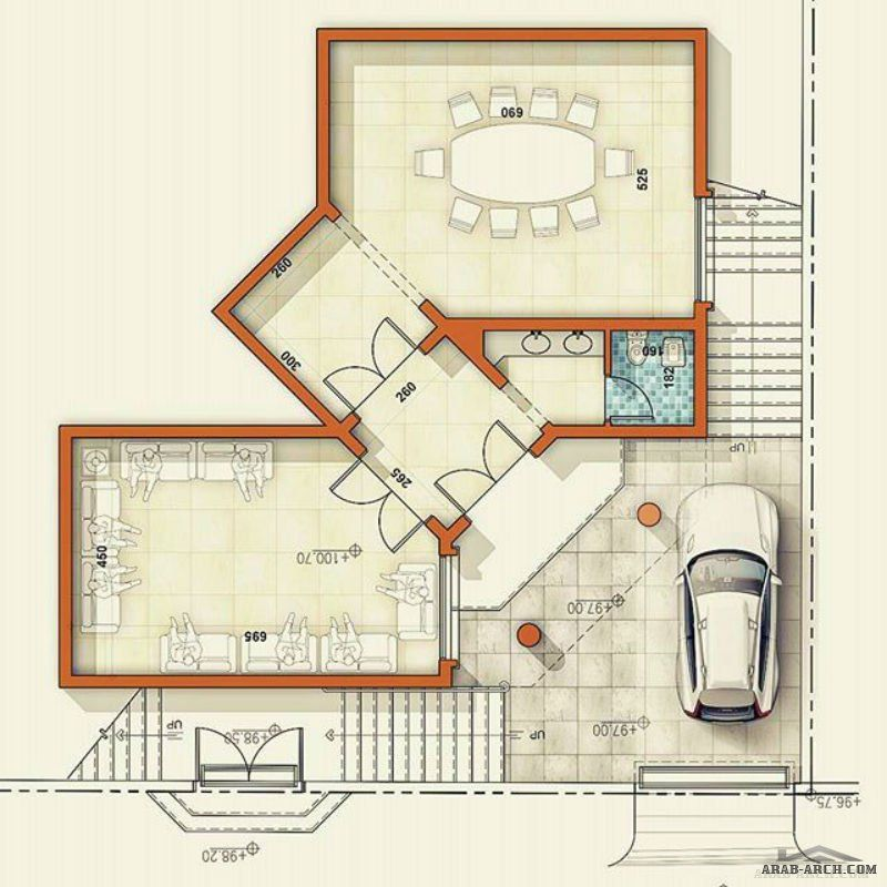 مخطط فيلا سكنية وسقة السعودية ابها من اعمال Architect Ammar Nasser Square House Plans Craftsman Floor Plans Tiny House Floor Plans