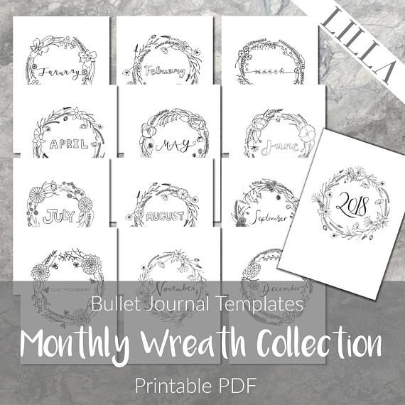 Printable Monthly Covers