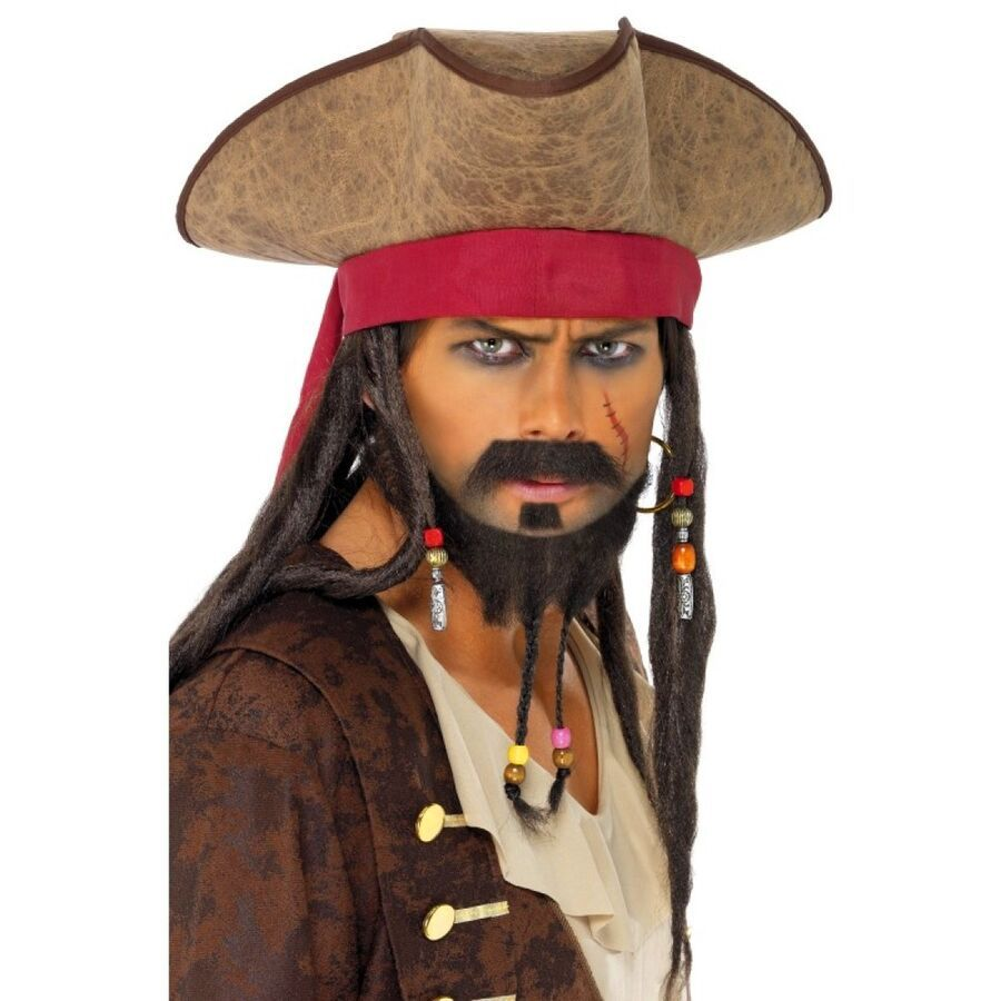 Adults Pirate Accessories Mens Ladies Buccaneer Caribbean Fancy Dress Costume