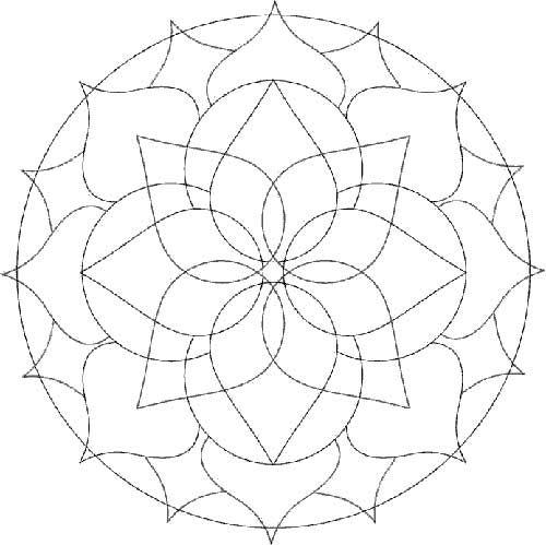 Desenhos Abstratos E Geometricos Para Colorir Facil Mandalas