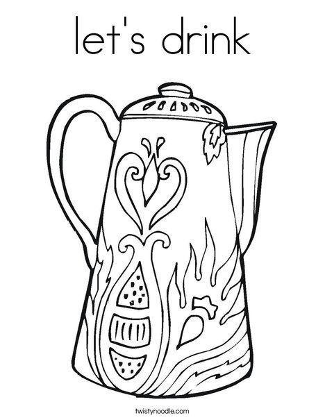 kaffeekanne malvorlage   Coloring and Malvorlagan